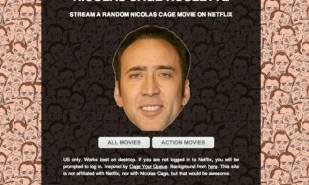 Nicolas Cage Roulette – Yeah, it's what it sounds like.