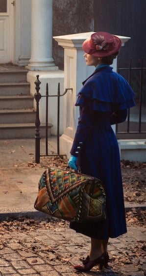 A glimpse of Golden Globe® winner Emily Blunt as Mary Poppins