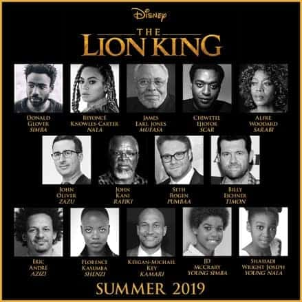 "JON FAVREAU'S ALL-NEW BIG-SCREEN ADVENTURE ""THE LION KING"" ROARS TO LIFE WITH ALL-STAR CAST"