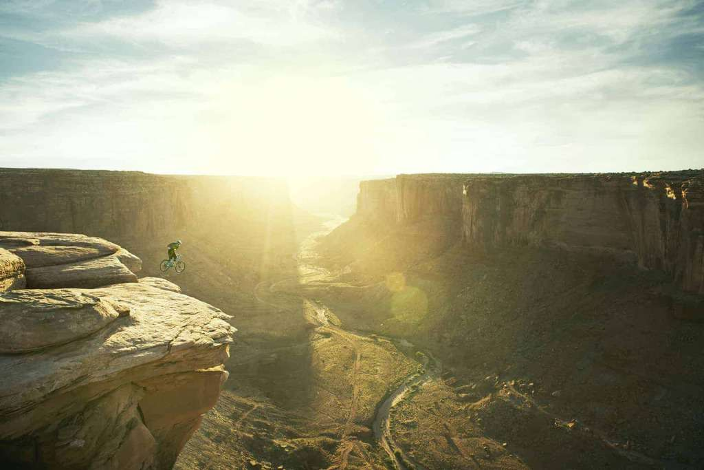 A bike base jump in Moab, Utah - courtesy of Greenwich Entertainment